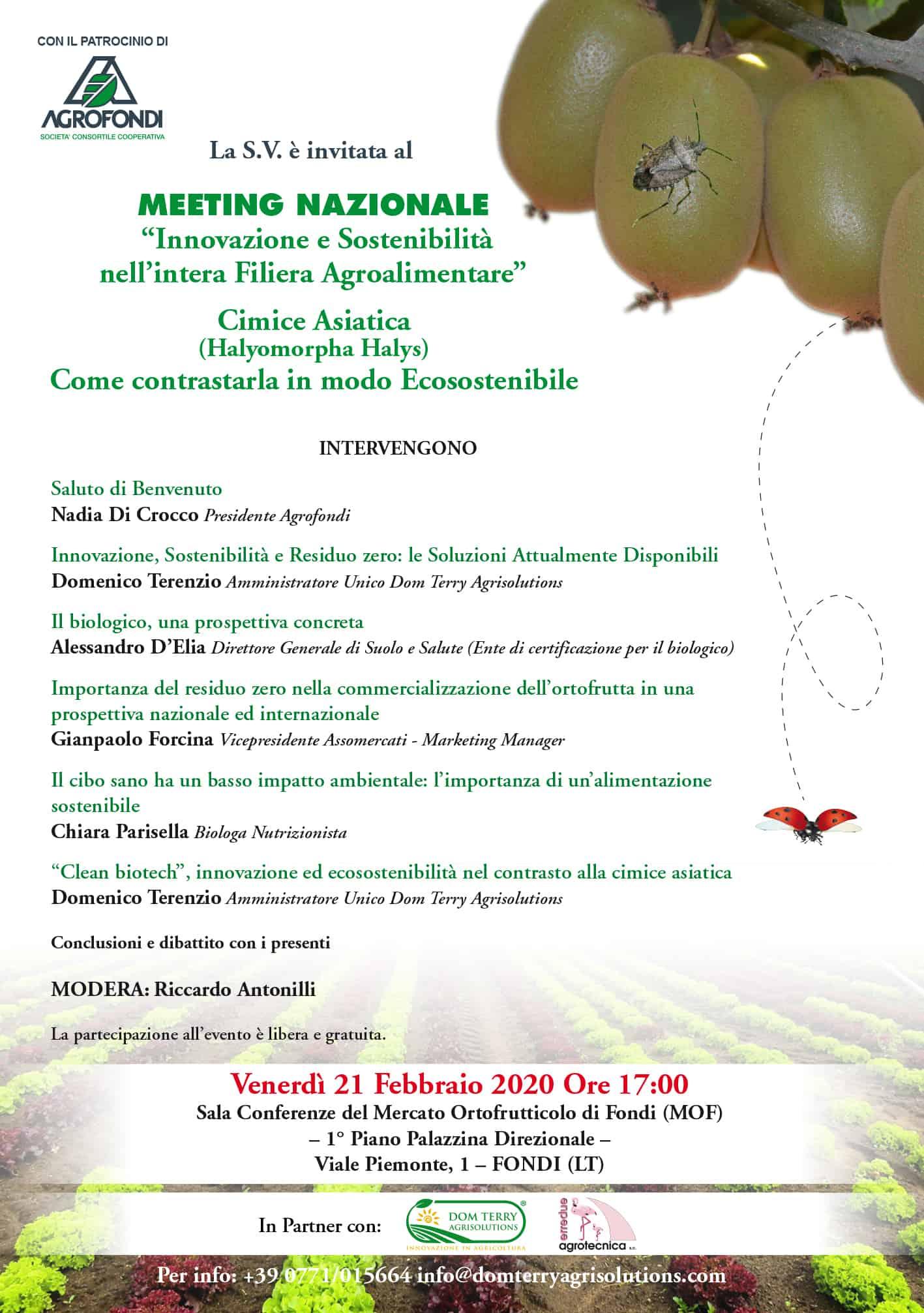 meeting nazionale innovazione e sostenibilità nell'intera filiera agroalimentare